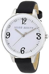 Reloj Miss Sixty R0751106502 de cuarzo para mujer con correa de piel, color negro de Miss Sixty