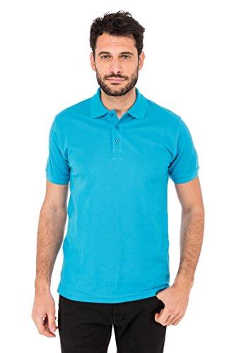 Fruit of the Loom Herren T-Shirt Premium Polo Blau (Blue ZU)