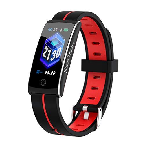 HHRONG Fitness Tracker, Farb Bildschirm Smart-Armband, Pedometer-Uhr und Sleep-Monitor-Kalorie Männer und Frauen-red Farb-multifunktions-navigations-display