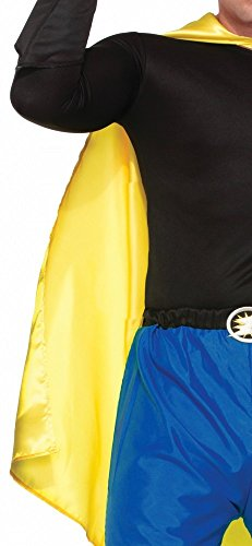 shoperama Accessoires für Superhero Herren Kostüm, Umhang Gelb