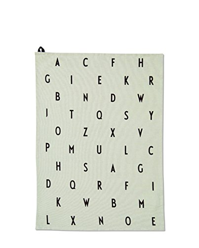 Design Letters - Geschirrtuch/Küchentuch/Tea Towel - aj Vintage - Baumwolle - grün Vintage Tea Towel