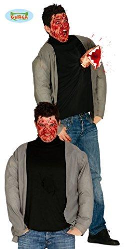 Alien Shirt mit Handschuh und Armattrappe Halloween Horror Kostüm Gr. M-L, Größe:L