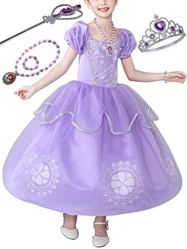 FStory&Winyee Mädchen Prinzessin Sofia Kostüm Lila Kinder Cosplay -