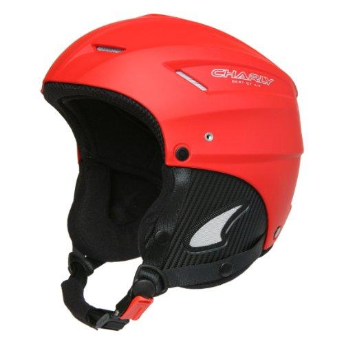 Rot Snowboard-helm Giro (Charly Loop, Gleitschirm- und Skihelm mit Helmschutzbeutel, aufrüstbar mit Visier, matt rot, Größe XL)