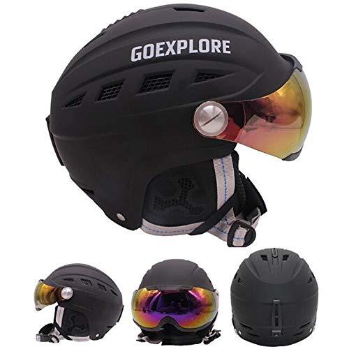XuBa Skihelm mit Visier Halbbedeckt Outdoor Sport Snowboard Skate Helme Herren Damen