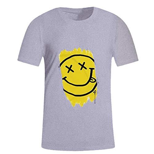 friendGG❤️Tops Hemden Outdoor Fun-T-Shirts Sport & Freizeit Herrenbekleidung Sportswear-Shirts & Hemden für Herren Sommer Mens Fashion Casual Brief einfarbig drucken Kurzarm T-Shirt Bluse