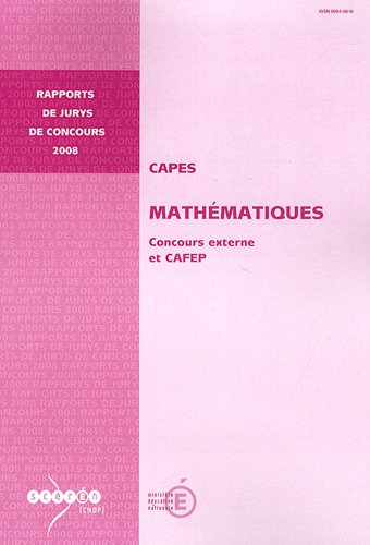 CAPES Mathématiques : Concours externe et CAFEP