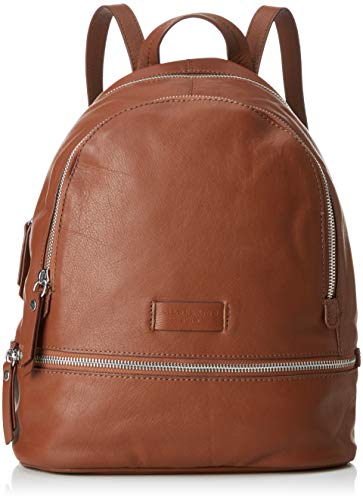 Liebeskind Berlin Damen Essential Lotta Backpack Small Rucksackhandtasche, Braun (Bourbon), 11x32x26 cm