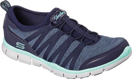 Skechers - Gratis shake-it-off, Scarpe da ginnastica Donna Shake It Off/Navy/Green