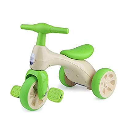 Jiamuxiangsi Children's Three-wheeled Bicycle Stroller Bicycle Tricycle Baby Child Toy Baby Bicycles Can Sit On Boys And Girls Free Inflatable Stroller 2-3-5 Years Old Bicycle Baby (Color : Green)