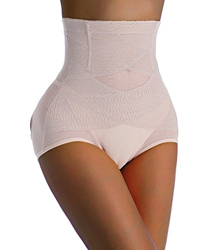 Chumian Butt Lifter Panties Boyshorts Unterwäsche Slim Lift for Weight Loss (M(2-3 Days Delivery), Beige -