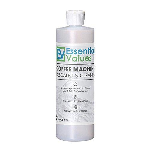 Essential Values Descalcificador de Café para Keurig, Delonghi, Nespresso (Cada cafetera & una máquina de espresso) Transparente