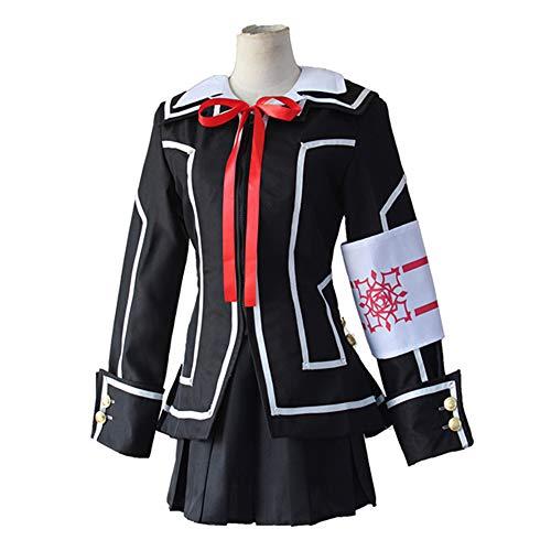 Crimson Damen Kostüm - Inspiriert von Vampire Knight Kuran Anime Cosplay Kostüme Japanische Cosplay Anzüge/Schuluniformen Patchwork Langarm Mantel/Shirt/Rock für Herren/Damen,L