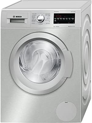 Bosch WAT2848XES Independiente Carga frontal 8kg 1400RPM A+++-30% Plata, Color blanco - Lavadora (Independiente, Carga frontal, A+++-30%, B, Plata, Color blanco, LED)