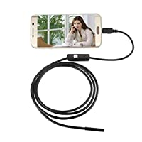 USB Endoscope inspection camera, 5.5mm Endoscope Waterproof Borescope Inspection Camera 6 LED For Andorid Phone for Smartphone Tablet with OTG and UVC Function and PC Laptop-5M