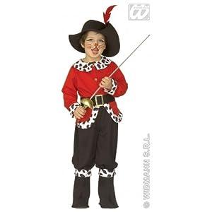 widmann-wdm4392g traje Niños Unisex, Color blanco Rojo Negro, wdm4392g
