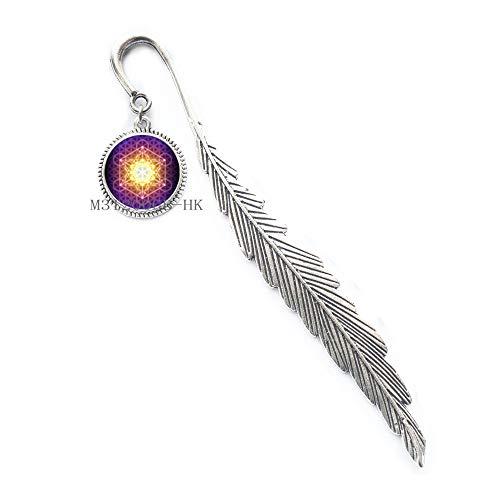 Segnalibro con mandala Sri Yantra, segnalibro geometrico sacro, segnalibro Sri Yantra, gioielli buddisti, gioielli yoga regalo, MT101