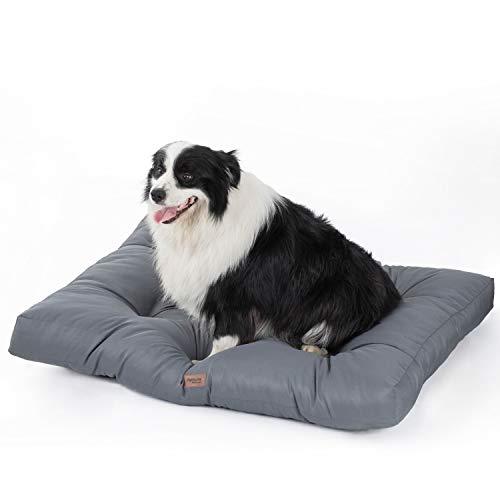 Bedsure Betten für große Hunde Wasserdicht - Weiche waschbare Hundematratze - 110x89x10 cm, grau, XL