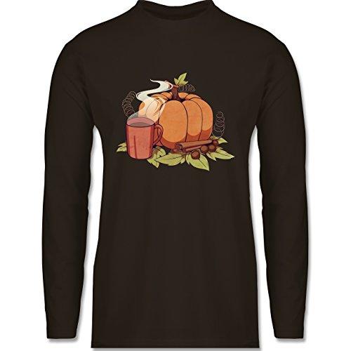 Shirtracer Statement Shirts - Pumpkin Spice - Herren Langarmshirt Braun