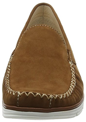Gabor Shoes Comfort, Mocassini Donna Marrone (nut 44)