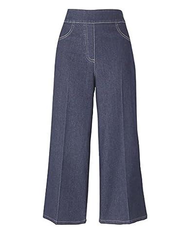 Womens Simply Be Wide-Leg Crop Jean in Dark