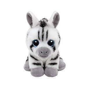 TY - Beanie Babies Stripes, peluche zebra, 15 cm (United Labels Ibérica 41198TY)