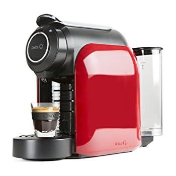 Delta Q 012872 Qool Evolution - Cafetera de cápsulas color rojo, 44 x 19,3 x 33 cm