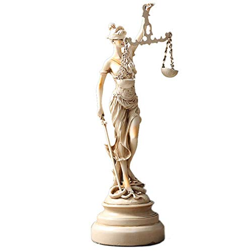 Mnjin Decoración del hogar Lady Justice Statue, Themis Statue Justice Order Goddess Sculpture Desktop Desk Decoration Lawyer Gift, 181557cm
