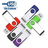 VIEKUU Clé USB 2.0 1 GO Lot de 5 Pièces pour Ordianteur, Télévision, Automobile...