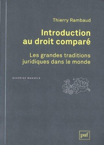Introduction au droit compar? by Thierry Rambaud
