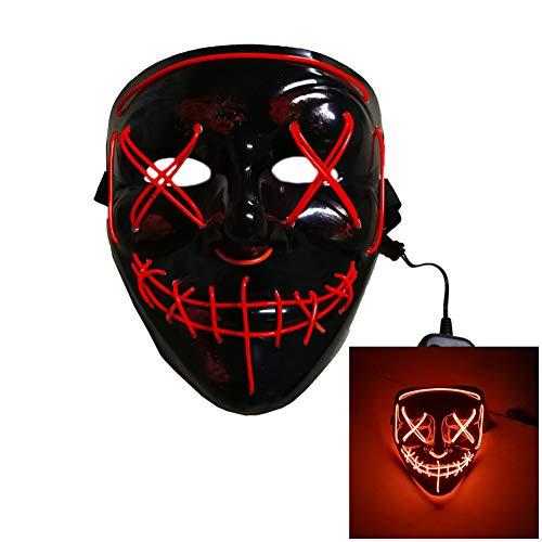CANE Led-Halloween-leuchtmaske Für Die Weihnachtsbeleuchtung Cosplay-kostüm Muss Persönlichkeit Zeigen,7