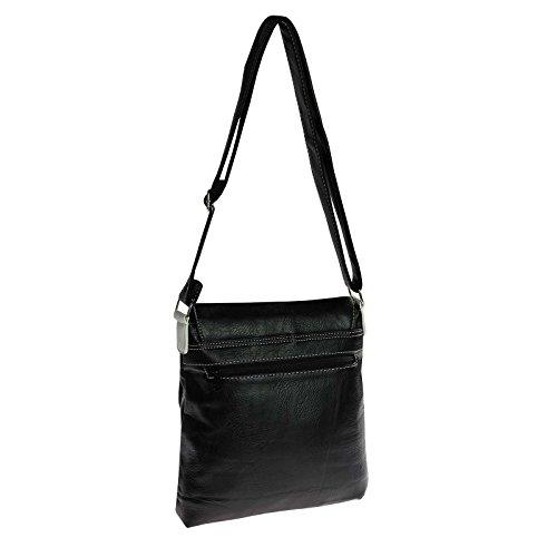 OBC Only-Beautiful-Couture Borsa Messenger - Cognac, 27x27x8 cm (BxHxT) bianco nero