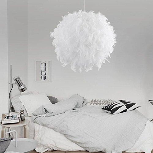 Camera Da Letto Romantica Moderna.Moderna Lampada A Sospensione Romantico Dreamlike Feather Droplight Camera Da Letto Lampada A Sospensione Colore Bianco