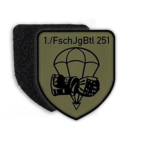 Fallschirmjäger Tarn (Patch FschJgBtl 251 Calw Fallschirmjäger-Bataillon Kompanie Aufnäher Tarn Abzeichen Wappen Emblem Klett Alfashirt#21622)