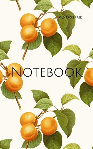 Notebook: apricot fruit vintage art wallpaper fruits orange apricots cooking jam preserving bottling -