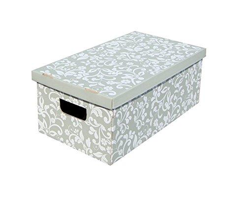 Kanguru unduetre set 3 scatole per la sistemazione, cartone, grigio/bianco, 29 x 51 x 20 cm