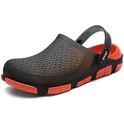Fannyfuny_Zapatos Hombres Zuecos Hombre Zuecos para Unisexo Zapatillas de Trabajo Zapatos Mujeres Sandalias Verano Malla Respirable del Acoplamiento Zapatillas de Playa Ahueca hacia Fuera Sandalias