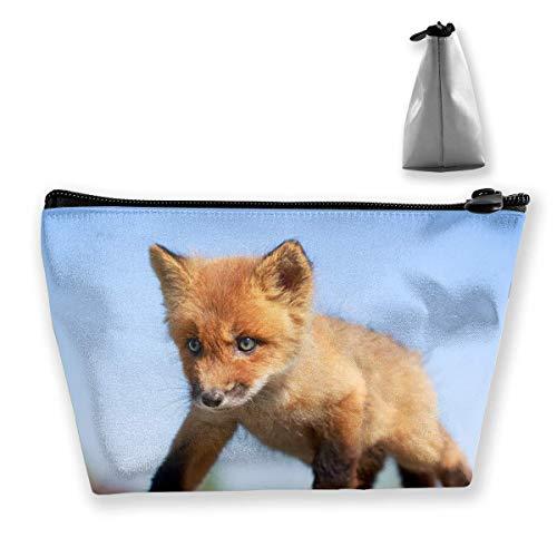 Trapezoidal Make-Up Bags Baby Fox Sand Portable Cosmetic Bag Ladies Mobile Travel Bag