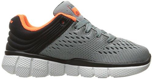 Skechers Equalizer 2.0 Post Season, Sneakers Basses Garçon Gris (Ccbk)
