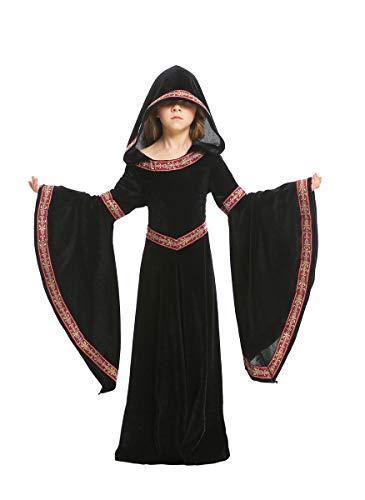 Fanessy. Kinder Mädchen Damen Renaissance Mittelalter Kleid Große Größen Vampir kostüm Viktorianischen Königin Kostüm Erwachsene Kinder Verkleidung Cosplay Dress für Fasching Halloween Karneval Party (Renaissance Königin Kind Kostüm)
