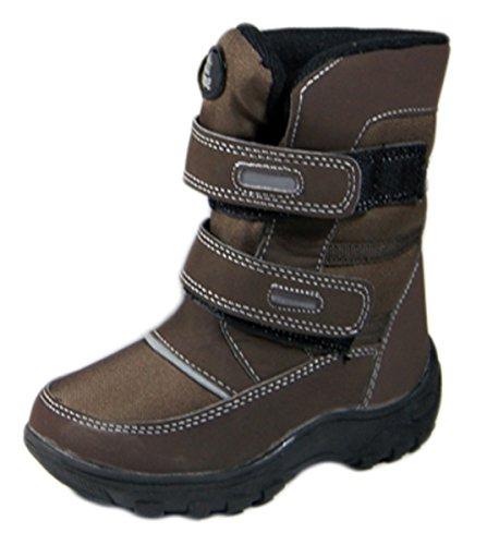 Boots Braun u Outdoor Schuhe Stiefel Jungen Kinder Schwarz Winter M盲dchen Braun gef眉ttert fYxq47w