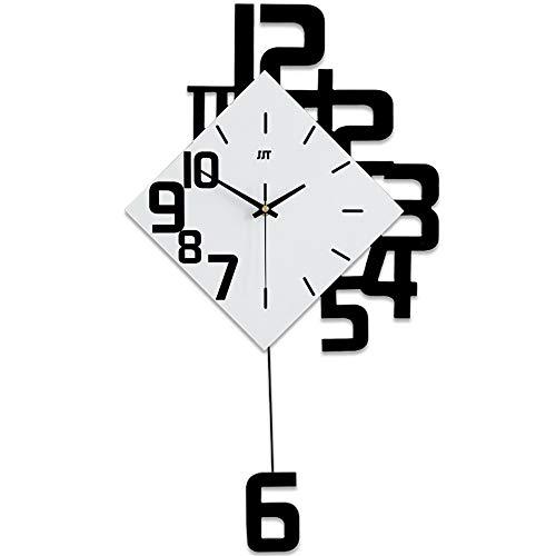 Lchhu orologio da parete in legno, orologio a pendolo decorativo moderno - muto a batteria, orologio da parete in legno massello di grande formato
