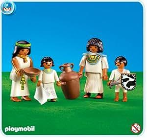 Playmobil 7386 Famille égyptienne (Article livré sans emballage)