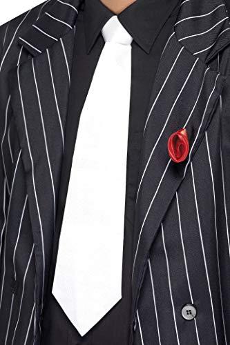Smiffys Herren Gangster Krawatte, One Size, Weiß, 22872
