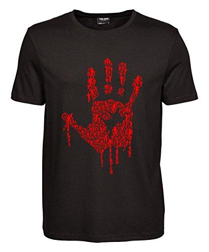 makato Herren T-Shirt Luxury Tee Hand Of Zombies Black