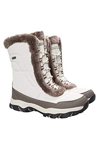 Mountain Warehouse Ohio - Stivali da Neve Donna Resistente alla Neve -Rivestimento Isotermico e Suola in Gomma per Un Maggiore Comfort Beige 37
