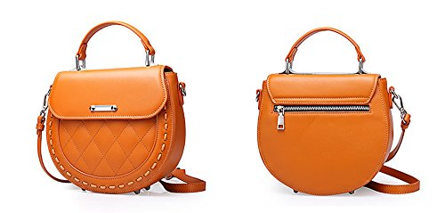 Damen Schulter bedeckt Orange Dessous Xinmaoyuan Bag Leder mit Tasche Pig Orange einem Handtaschen Messenger einzigen Tasche Damen Damen XHxxqTP0