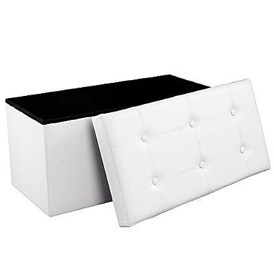 Songmics 76 x 38 x 38 cm Faltbarer Sitzhocker Belastbar bis 300 kg LSF40 von Songmics bei Gartenmöbel von Du und Dein Garten