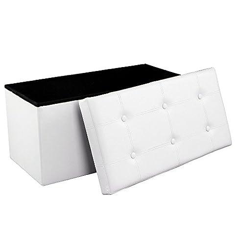 Songmics Sitzbank Sitzhocker mit Stauraum faltbar 2-Sitzer