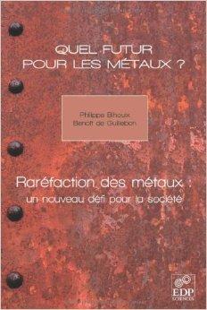 Quel futur pour les mtaux ? : Rarfaction des mtaux : un nouveau dfi pour la socit de Benoit de Guillebon,Philippe Bihouix,Michle Pappalardo (Prface) ( 25 novembre 2010 )